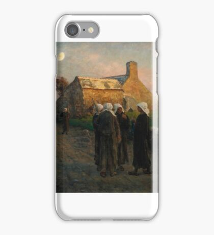 Jules Breton (French,  - Afternoon Repast,  iPhone Case/Skin