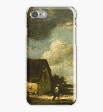 Jules Dupre(French, )The Passing Storm iPhone Case/Skin