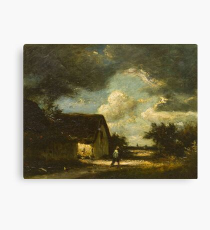 Jules Dupre(French, )The Passing Storm Canvas Print