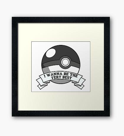 Pokemon Trainer Framed Print