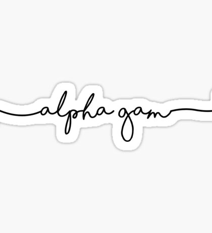 Alpha Gamma Delta cursive Sticker