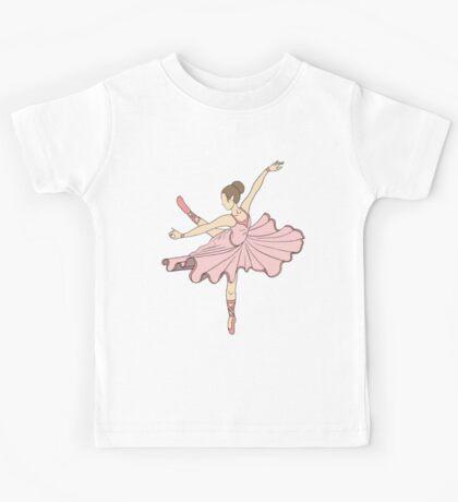 Cute Pink Princess Dance Ballerina Kids Tee