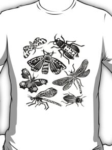 Insect Collection Lino Prints T-Shirt