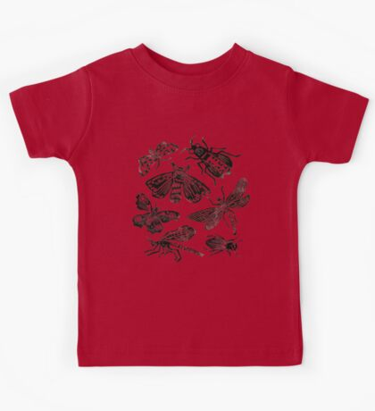 Insect Collection Lino Prints Kids Tee