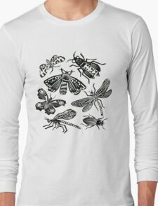 Insect Collection Lino Prints Long Sleeve T-Shirt