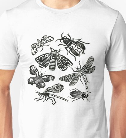 Insect Collection Lino Prints Unisex T-Shirt