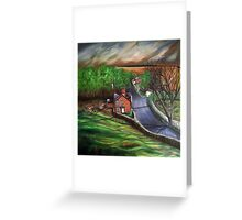 View from St James Warter in the Wolds Greeting Card