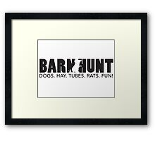 Dogs. Hay. Tubes. Rats. Fun! Framed Print