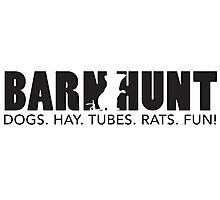 Dogs. Hay. Tubes. Rats. Fun! Photographic Print