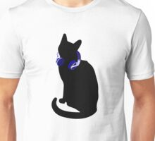 Cute Headphone Cat Novelty Graphic Print Gift Idea Unisex T-Shirt