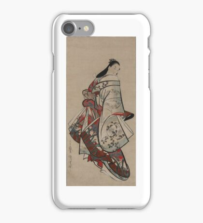 Kaigetsudo Ando, active early 18th century iPhone Case/Skin