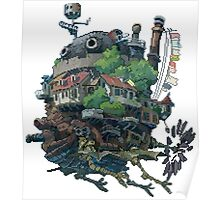 8bit Howl's Moving Castle Poster
