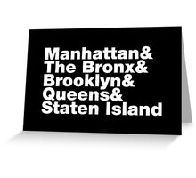 Five Boroughs ~ New York City Greeting Card