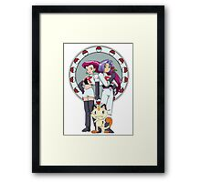Team Rocket Nouveau Framed Print