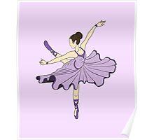 Cute Purple Dance Ballerina Princess Poster