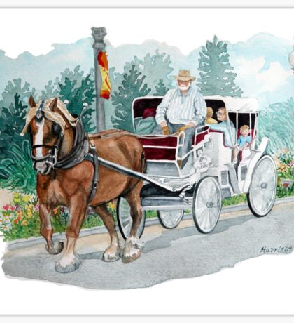 Horse & Buggy Sticker