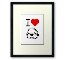 I Love Sloths Framed Print