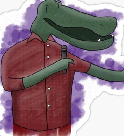 Alligator Comedian Sticker