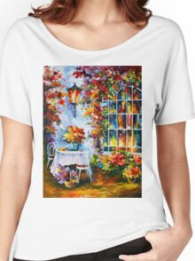 IN THE GARDEN - Leonid Afremov Women's Relaxed Fit T-Shirt