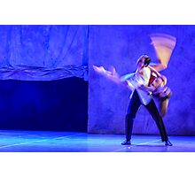 Group of contemporary dancers performing on stage Photographic Print