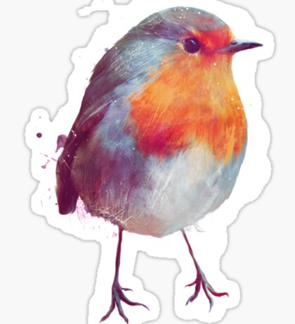 Winter Robin Sticker