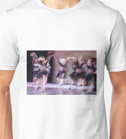 Group of contemporary dancers performing on stage Unisex T-Shirt