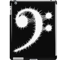 Death Metal Bass Clef (Inverted) iPad Case/Skin