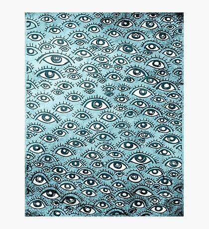 Human eyes pattern illustration Photographic Print