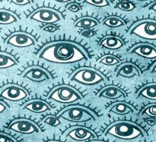 Human eyes pattern illustration Sticker