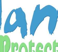 green planet - protect animals and nature Sticker