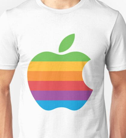 Retro Apple Logo Unisex T-Shirt