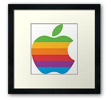 Retro Apple Logo Framed Print