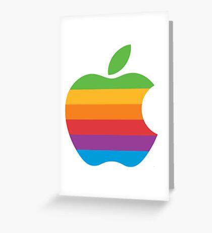 Retro Apple Logo Greeting Card