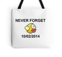 Never Forget Flappy Bird Tote Bag