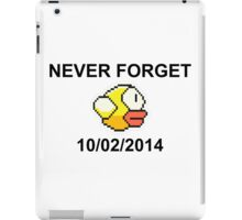 Never Forget Flappy Bird iPad Case/Skin