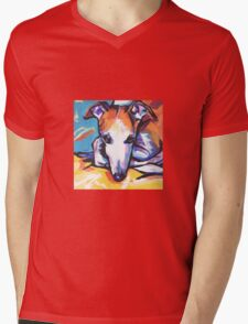 Whippet Dog Bright colorful pop dog art Mens V-Neck T-Shirt