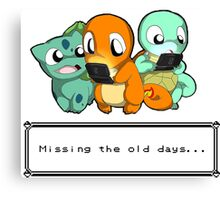 Pokemon Missing old days Canvas Print