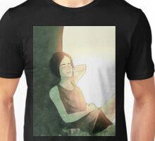 Girl Sitting Under Tree Unisex T-Shirt
