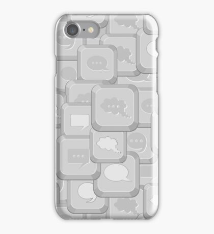 Iphone Case Gray Computer Keys iPhone Case/Skin