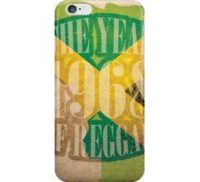 1968 - The Year Of Reggae iPhone Case/Skin