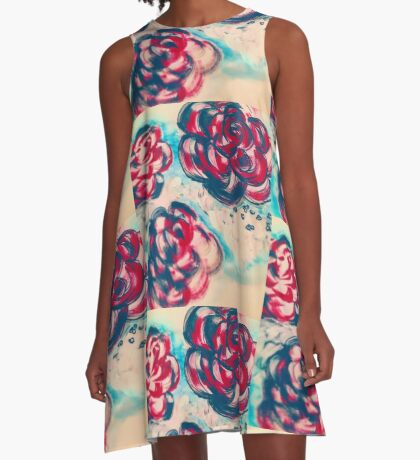 Painted flowers  A-Line Dress