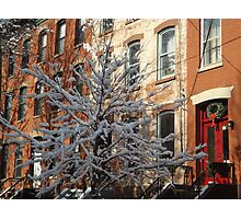 Jersey City After a Wet Snow, Jersey City, New Jersey Photographic Print