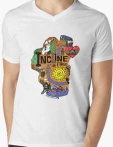 INCLINE VILLAGE Mens V-Neck T-Shirt