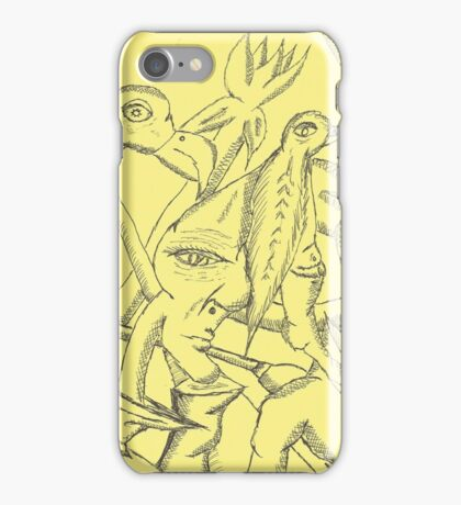 saga of the beer bellied finger finch iPhone Case/Skin