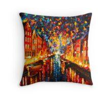 NIGHT COPENHAGEN - Leonid Afremov Throw Pillow