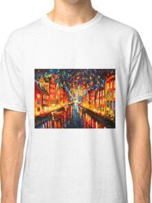 NIGHT COPENHAGEN - Leonid Afremov Classic T-Shirt