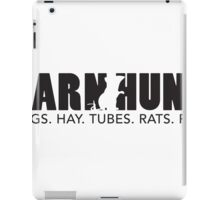 Dogs. Hay. Tubes. Rats. Fun! iPad Case/Skin