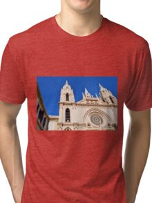 Architectural detail of the cathedral from Malaga, Spain. Tri-blend T-Shirt