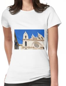 Architectural detail of the cathedral from Malaga, Spain. Womens Fitted T-Shirt
