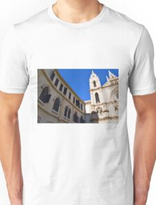 Architectural detail of the cathedral from Malaga, Spain. Unisex T-Shirt